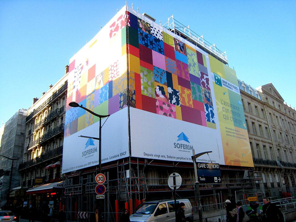Bâche murale - Gare du Nord - Paris